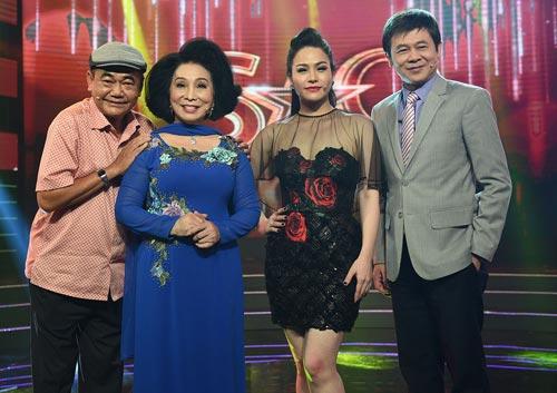 Từ trái qua: diễn viên Việt Anh, Bạch Tuyết, Nhật Kim ANh