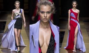 Dàn chân dài nóng bỏng của Versace khuấy động Tuần Paris