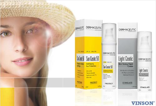 Sun Ceutic 50 chống nắng hiệu quả cao.Light Ceutic ức chế melanin, dưỡng trắng làn da.