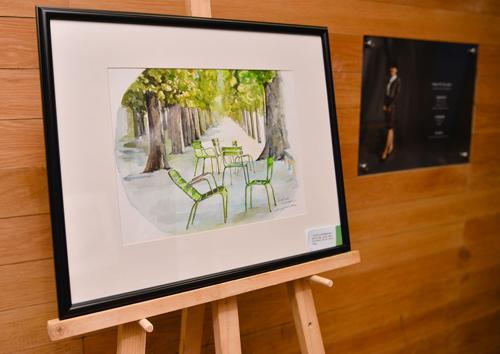 Một tác phẩm của Amanda Huỳnh tại triển lãm.