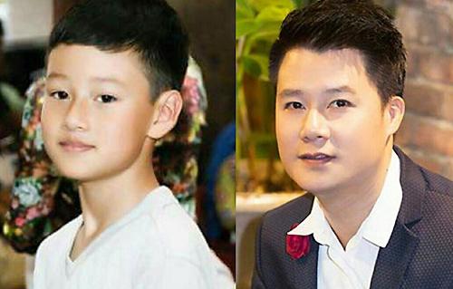 Càng lớn bé Bảo Nam (trái) càng giống Quang Dũng như đúc.