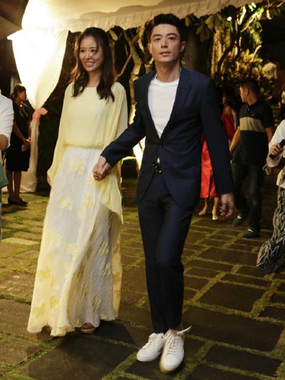 Lâm Tâm Như - Hoắc Kiến Hoa tổ chức tiệc đón khách dự đám cưới ở Bali, Indonesia vào tối 30/7.