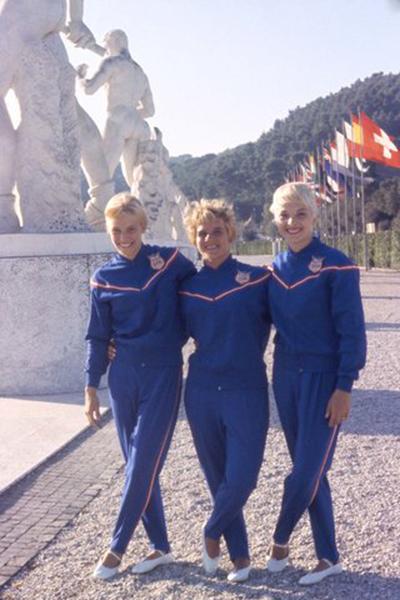 American gymnasts, 1960.