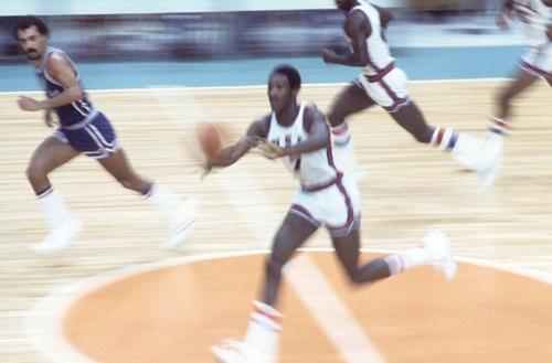 The U.S. mens basketball team, 1976.