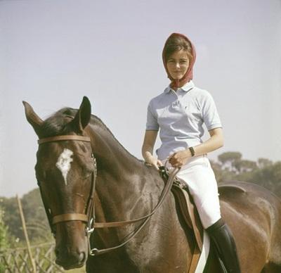 American dressage rider Patricia Galvan, 1960.