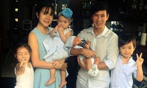 Vợ chồng Lý Hải tổ chức lễ đầy tháng cho con thứ tư
