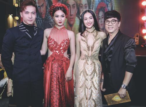 Từ phải qua: Nghệ sĩ Ưu tú Thành Lộc, Hạ Vi, Lan Ngọc và