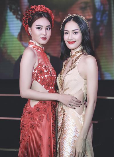Hạ Vi và Lan Ngọc (trái) trở nên thân thiết sau thời gian tham gia chung một dự án điện ảnh.