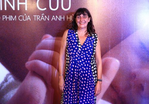 Nhà sản xuất phim người Pháp - Sylvie Pialat - trong buổi ra mắt phim Vĩnh cửu của đạo diễn Trần Anh Hùng ở Hà Nội hôm 5/9. Ảnh: Nick M.