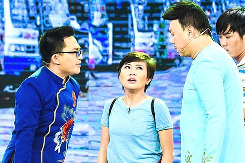 Đại Nghĩa lên sân khấu thử khả năng diễn xuất của thí sinh Làng hài mở hội.