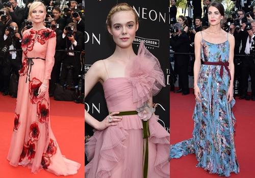 Tần suất váy Gucci xuất hiện trên thảm đỏ ngày một nhiều.