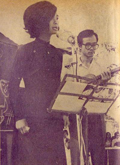 Khánh Ly và Trịnh Công Sơn ở Quán Văn.