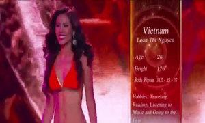Nguyễn Thị Loan trình diễn bikini tại Miss Grand International