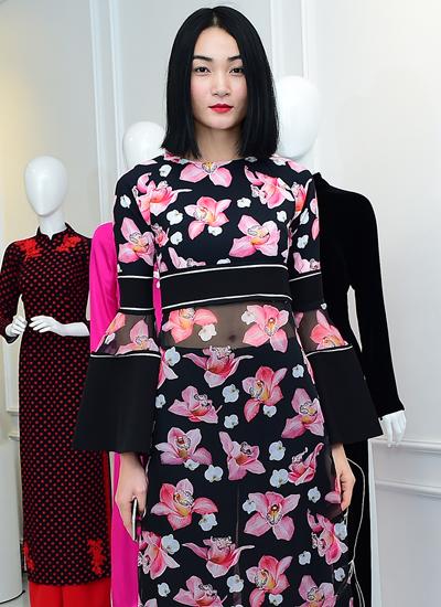 Người mẫu Thùy Trang.