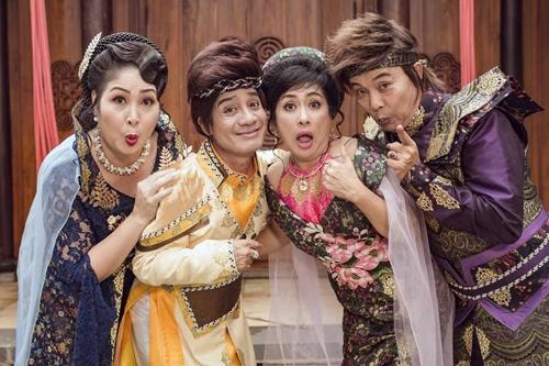 Tạo hình của bốn giám khảo từ trái qua: Hồng Vân, Minh Nhí, Thanh Thủy, Đức Hải.