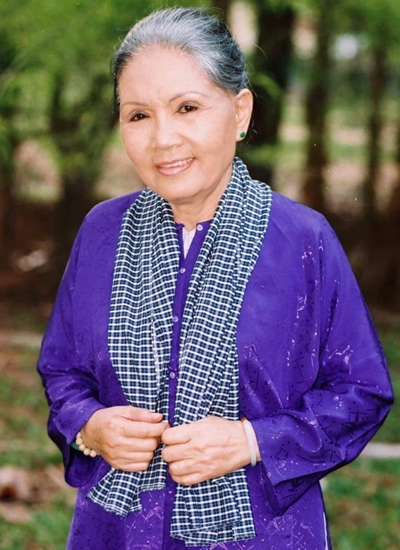 Di ảnh của cố nghệ sĩ Út Bạch Lan do bà tự tay chọn trước khi mất. Ảnh: Minh Hoàng.