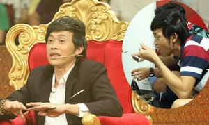 Hoài Linh ngồi bệt ăn cơm hộp