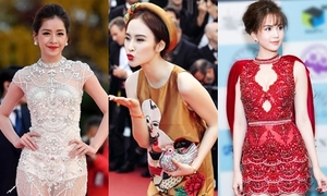 Những mỹ nhân tỏa sáng trên thảm đỏ quốc tế với trang phục Việt