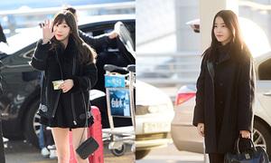 Dàn sao Hàn Quốc sành điệu đổ bộ sân bay