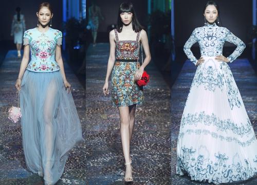 Bộ sưu tập của Lê Thanh Hòa mang những họa tiết lấy cảm hứng từ Pháp lam.