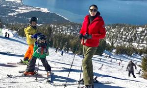 Hà Kiều Anh trượt tuyết cùng các con ở Mỹ