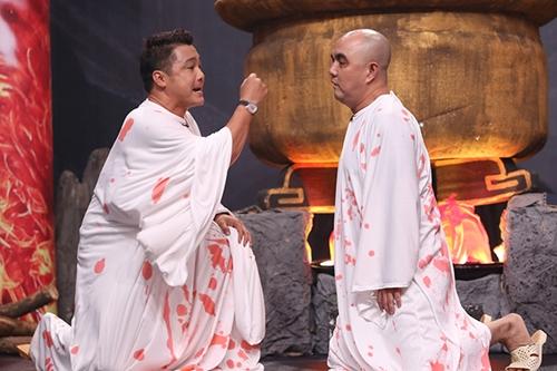 Tiểu phẩm còn có sự tham gia của diễn viên Quốc Thuận trong một vai gây cười.