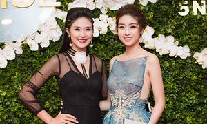 Hoa hậu Mỹ Linh, Ngọc Hân đọ xiêm y đi tiệc