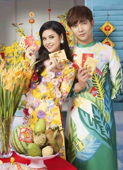 Vợ chồng Trương Quỳnh Anh (trái) và Tim