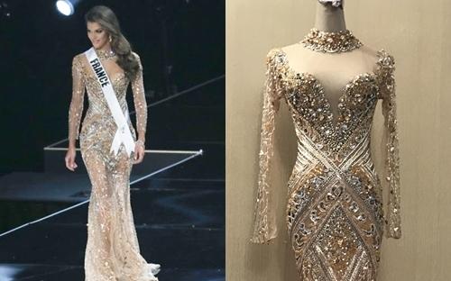Bộ váy Iris Mittenaere mặc trong phần thi dạ hội có giá hơn 225 triệu đồng.