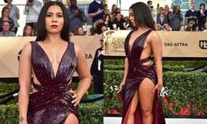 Sao truyền hình Mỹ diện váy xẻ cao lên thảm đỏ
