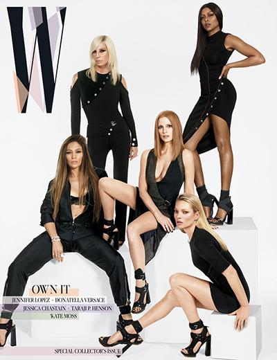 Kate Moss lên trang bìa W cùng bốn người đẹp quyền lực trong nhiều lĩnh vực.