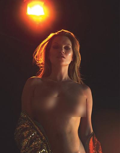 Kate Moss chụp ảnh khỏa thân.