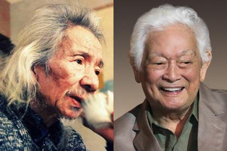 Văn Cao (trái) và Phạm Duy