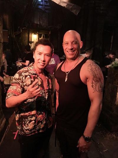 Chân Tử Đan (trái) và Vin Diesel.
