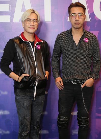 Ca sĩ Lou Hoàng (trái) và nhạc sĩ Only C.