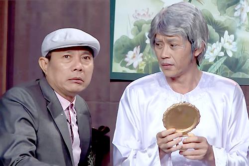 Hoài Linh (phải) và Trung Dân.