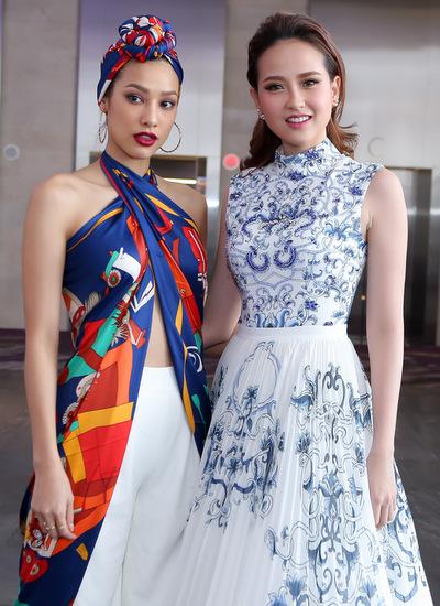 Hai cựu thí sinh của The Face năm trước: Lilly Nguyễn và Khánh Ngân