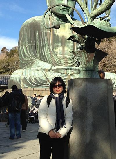 Nhà văn Phan Việt trong một chuyến đến Nhật công tác.