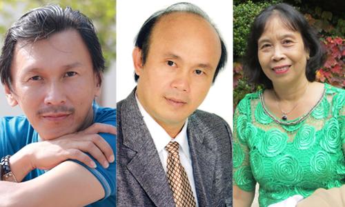 Từ trái qua: nhà văn Trần Tùng Chinh, Mai Bửu Minh và Trần Hoàng Quyên.