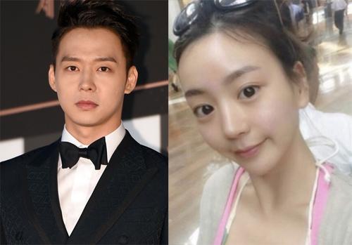 Park Yoo Chun và vợ sắp cưới.