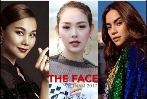 Ảnh ghép ba giám khảo The Face năm nay. Từ trái qua: Thanh Hằng, Minh Hằng và Hồ Ngọc Hà.