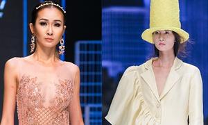 Váy trong suốt, xếp bèo chinh phục Tuần thời trang Quốc tế Việt Nam
