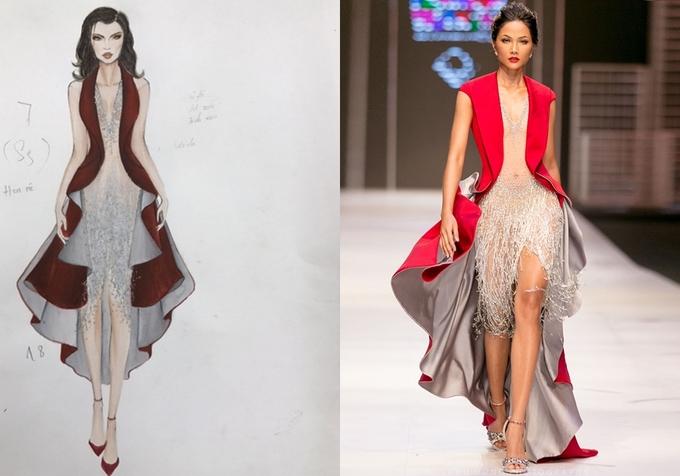 Sưu tập váy trong suốt của Đỗ Long: từ bản vẽ đến sàn catwalk