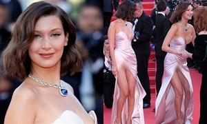 Bella Hadid hở nội y trên thảm đỏ mở màn Cannes