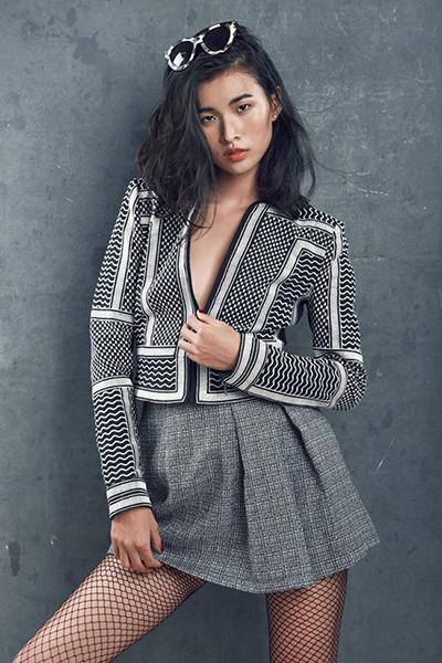 Người mẫu Cao Thiên Trang.