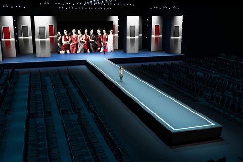 Sân khấu mô phỏng của Đêm hội chân dài tại Đức.