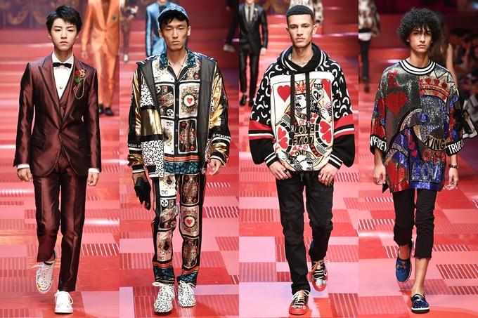 Những chàng trai lòe loẹt, cá tính của Dolce & Gabbana