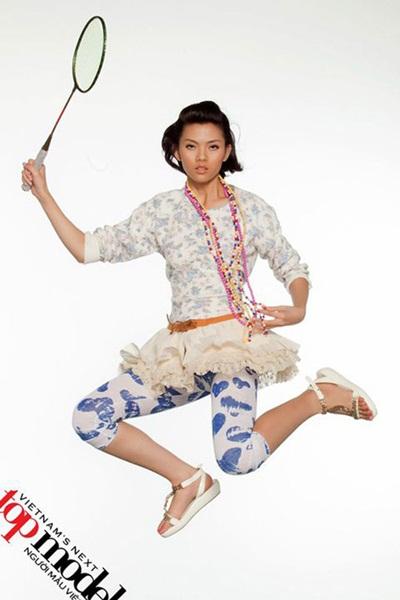 Ở mùa thi đầu tiên năm 2010, trong thử thách chụp hình theo chủ đề Cô gái thể thao, Thanh Hằng