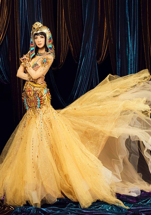 Thanh Mai hóa trang thành nữ hoàng Ai Cập