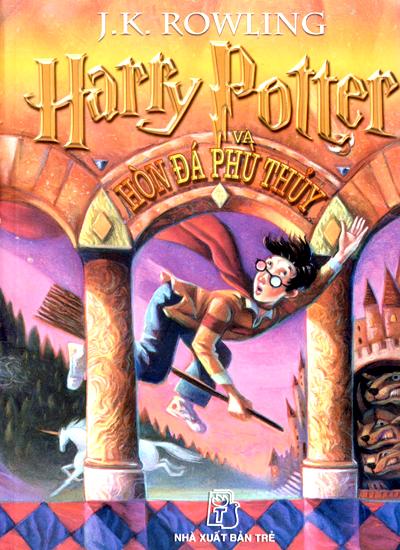 Tập sách Harry Potter và hòn đá phù thủy.